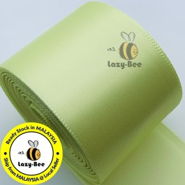 A617-38 Baby Maize: 5 meter 38mm SINGLE Faced Satin Ribbon