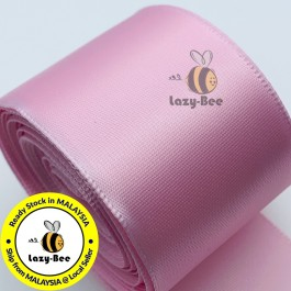 A117-38 Lt Pink: 5 meter 38mm SINGLE Faced Satin Ribbon