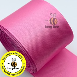 A155-38 Geranium Pink: 5 meter 38mm SINGLE Faced Satin Ribbon