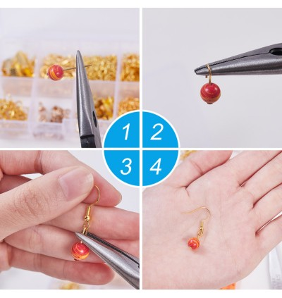MC853: DIY Jewelry Sets Iron Earring Hooks Carbon Steel Jewelry Pliers and Plastic Vernier Caliper