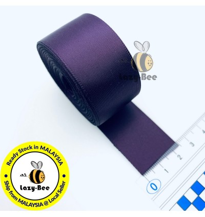 S290 SHADOW PURPLE: 5 meter Double Faced Satin Ribbon Wedding DIY Craft Bow knot Perkahwinan Borong Balut Reben