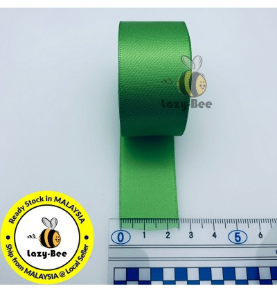 S549 BUD GREEN: 5 meter Double Faced Satin Ribbon Wedding DIY Craft Bow knot Perkahwinan Borong Balut Reben