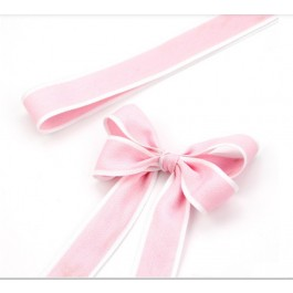 RB380: 25 yards 28mm Width SOFT PINK Ribbon DIY Craft Florist hand-tied bouquet flowers ribbon bows roses solid color Korean