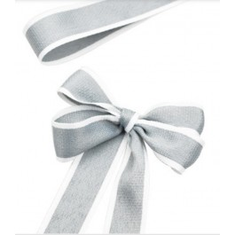 RB381: 25 yards 28mm Width GREY Ribbon DIY Craft Florist hand-tied bouquet flowers ribbon bows roses solid color Korean