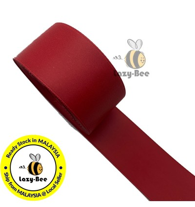 D260 SCARLET: 5 meter Double Faced DULL / MATTE Satin Ribbon Wedding DIY Craft Bow knot Perkahwinan Borong Balut Reben