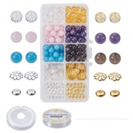 BC142: DIY Jewelry Making Tool Sets with Nature Gemstone