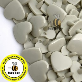 KM381: LIGHT TAN B23 HEART Shape 50 Sets (200 pcs) KAM GLOSSY Snap Button Plastic Fastener DIY Sewing Carft [ L15 ]