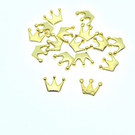 Gold / Silver Mini Crown 50 pcs 4mm x 6mm DIY Jewelry Making Hair Accessory Handmade Craft