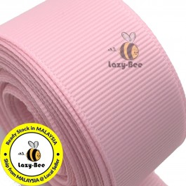 R123 PEARL PINK: 5 meter Grosgrain Ribbon Wedding DIY Craft Bow knot Perkahwinan Borong Balut Reben