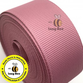 R165 ROSY MAUVE: 5 meter Grosgrain Ribbon Wedding DIY Craft Bow knot Perkahwinan Borong Balut Reben