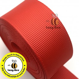 R235 POPPY RED: 5 meter Grosgrain Ribbon Wedding DIY Craft Bow knot Perkahwinan Borong Balut Reben
