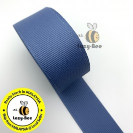 R363 SMOKE BLUE: 5 meter Grosgrain Ribbon Wedding DIY Craft Bow knot Perkahwinan Borong Balut Reben