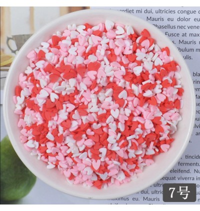 20 grams DIY Polymer Clay Fake Candy Creamy Sprinkle Phone Shell Decor Fake Sprinkles for Slime Topping