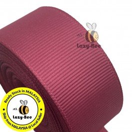 R169 ROSEWOOD: 5 meter Grosgrain Ribbon Wedding DIY Craft Bow knot Perkahwinan Borong Balut Reben