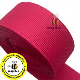 R175 SHOCKING PINK: 5 meter Grosgrain Ribbon Wedding DIY Craft Bow knot Perkahwinan Borong Balut Reben