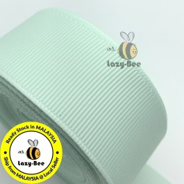 R510 ICE MINT: 5 meter Grosgrain Ribbon Wedding DIY Craft Bow knot Perkahwinan Borong Balut Reben