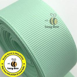 R513 PASTEL GREEN: 5 meter Grosgrain Ribbon Wedding DIY Craft Bow knot Perkahwinan Borong Balut Reben