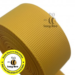 R660 YELLOW GOLD: 5 meter Grosgrain Ribbon Wedding DIY Craft Bow knot Perkahwinan Borong Balut Reben
