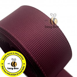 R277 BURGUNDY: 5 meter Grosgrain Ribbon Wedding DIY Craft Bow knot Perkahwinan Borong Balut Reben
