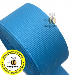 R328 ISLAND BLUE: 5 meter Grosgrain Ribbon Wedding DIY Craft Bow knot Perkahwinan Borong Balut Reben
