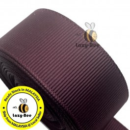 R793 RAISIN: 5 meter Grosgrain Ribbon Wedding DIY Craft Bow knot Perkahwinan Borong Balut Reben