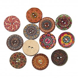 B56973: 50 pieces 20mm Wood Sewing Buttons Scrapbooking DIY Sewing Craft