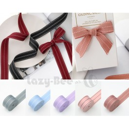 20 yards 26mm Ribbon With WHITE TRIPLE Striped DIY Craft Flower Decoration Gift Wrapping Florist Packaging Material