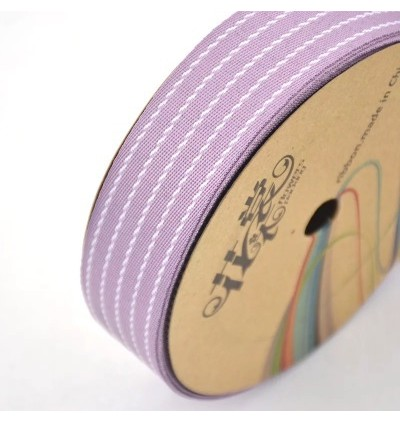 25 yards 28mm Ribbon With TRIM Striped  DIY Craft Flower Decoration Gift Wrapping Florist Packaging Material