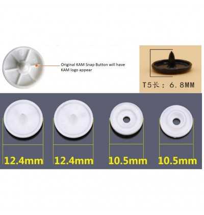 50 Sets (200 pieces) B41-B60 T5 (12.4mm) KAM Glossy Snap Button Plastic Fastener DIY Resin Stud Sewing Craft Face Shield