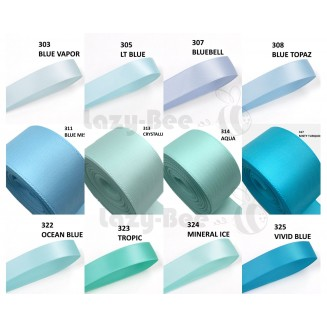 LIGHT BLUE Tone 5 meter 25mm 38mm 50mm Double Faced Satin Ribbon for DIY Craft Wedding Bow Handmade