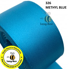 S326 METHYL BLUE 5 meter Double Faced Satin Ribbon Wedding DIY Craft Bow knot Perkahwinan Borong Balut Reben