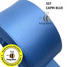 S337 CAPRI BLUE 5 meter Double Faced Satin Ribbon Wedding DIY Craft Bow knot Perkahwinan Borong Balut Reben