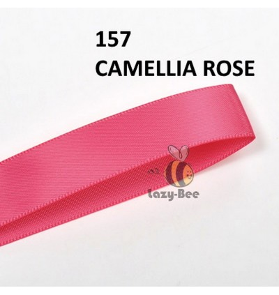 RED PINK Tone 5 Meter 25mm 38mm 50mm Premium Quality Double Faced Satin Ribbon DIY Craft Wedding Bow Gift