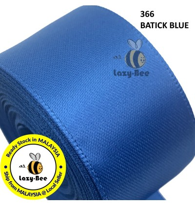 BLUE Tone 5 Meter 5 Meter 13mm 16mm 19mm Premium Quality Double Faced Satin Ribbon DIY Craft Wedding Bow Gift Wrap Reben