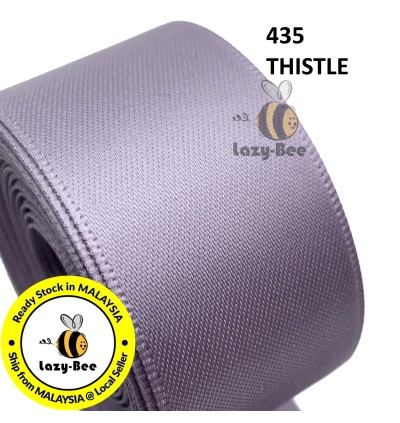 PURPLE Tone 5 meter 13mm 16mm 19mm Premium Double Faced Satin Ribbon Wedding DIY Craft Bow Reben