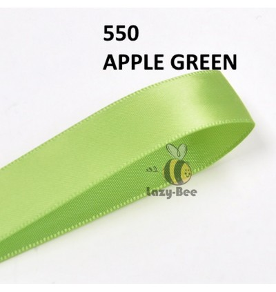 GREEN Tone 5 Meter 13mm 16mm 19mm Premium Quality Double Faced Satin Ribbon DIY Craft Gift Wrap Reben