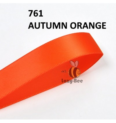 ORANGE Tone 5 Meter 13mm 16mm 19mm Premium Quality Double Faced Satin Ribbon DIY Craft Wedding Bow Gift Wrap Reben