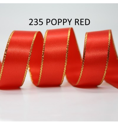 5 meter 9mm 16mm 25mm 38mm Gold Trim Double Faced Satin Ribbon DIY Craft Gift Hair Bow
